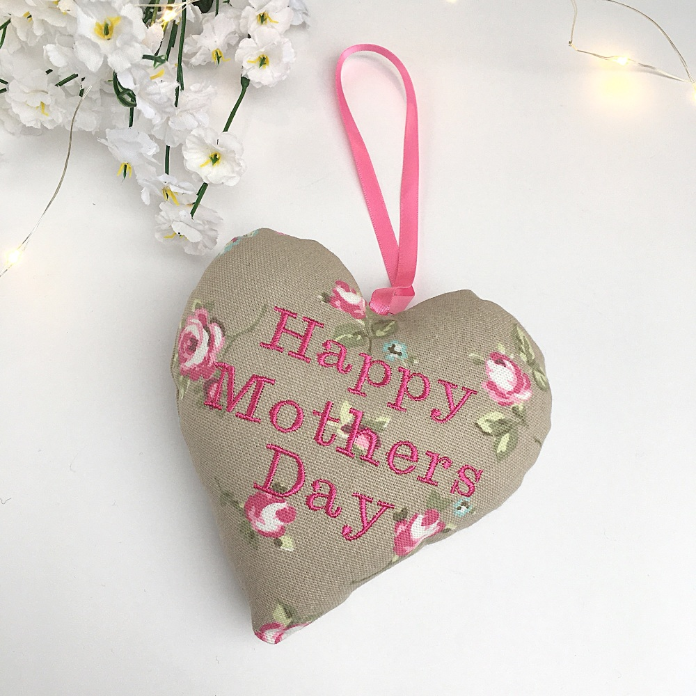 Mother's Day Embroidered Heart