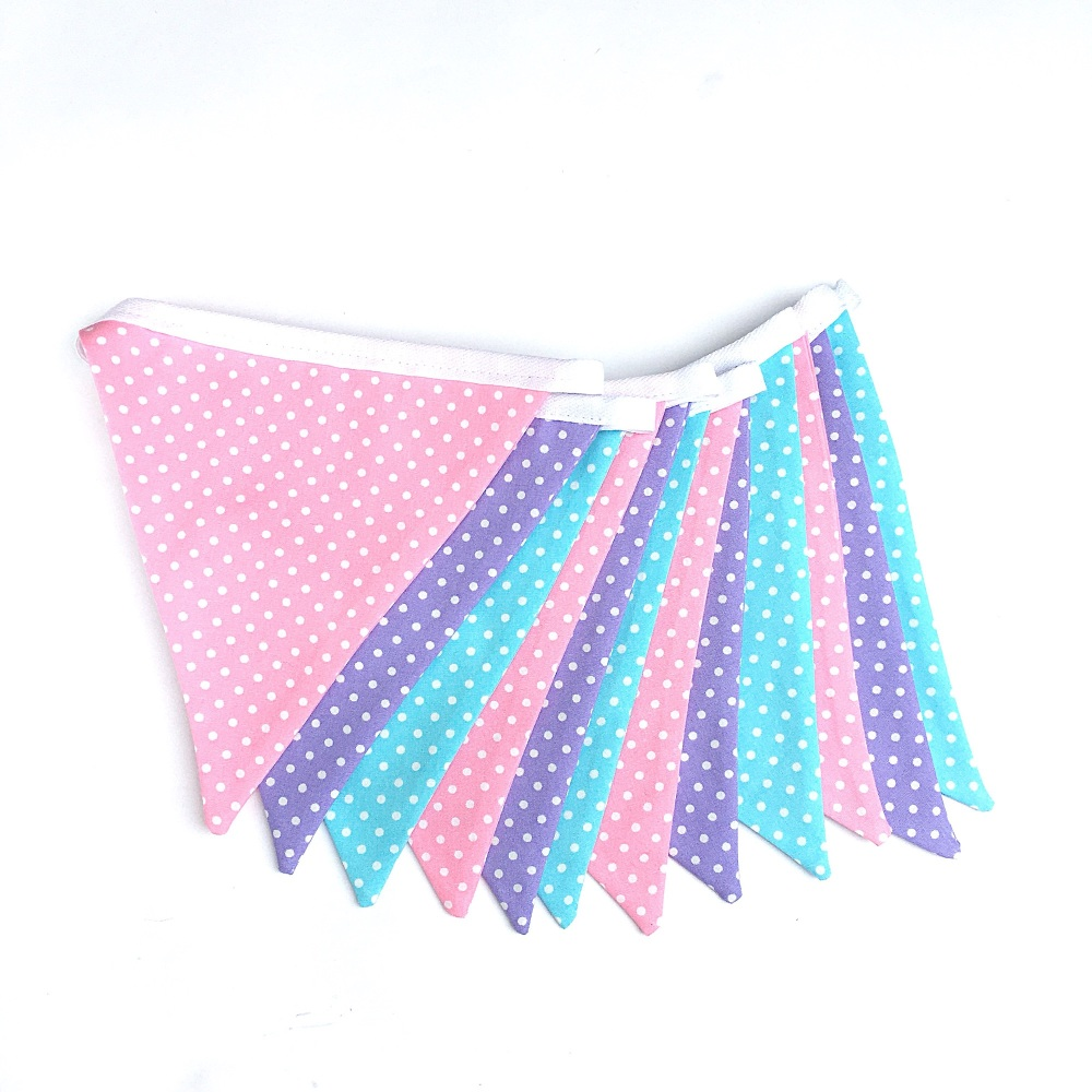 Pink, Purple & Turquoise Bunting