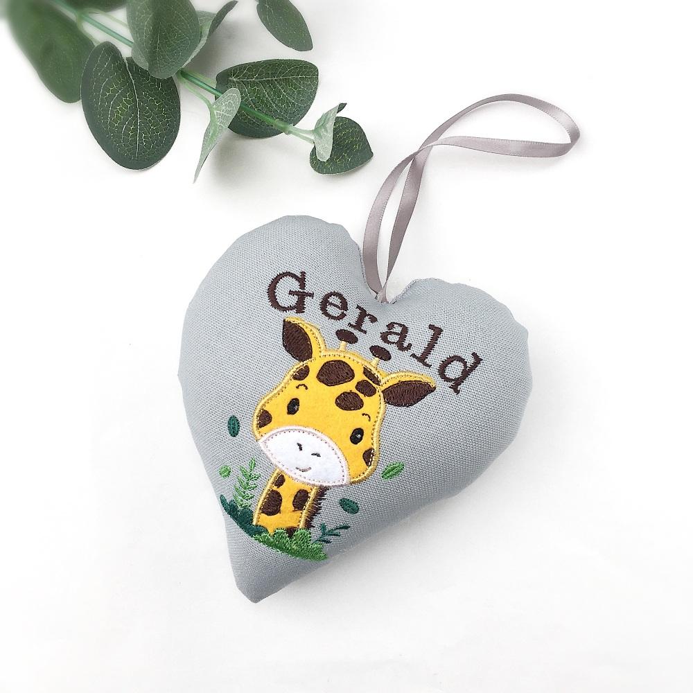 Giraffe Keepsake Heart