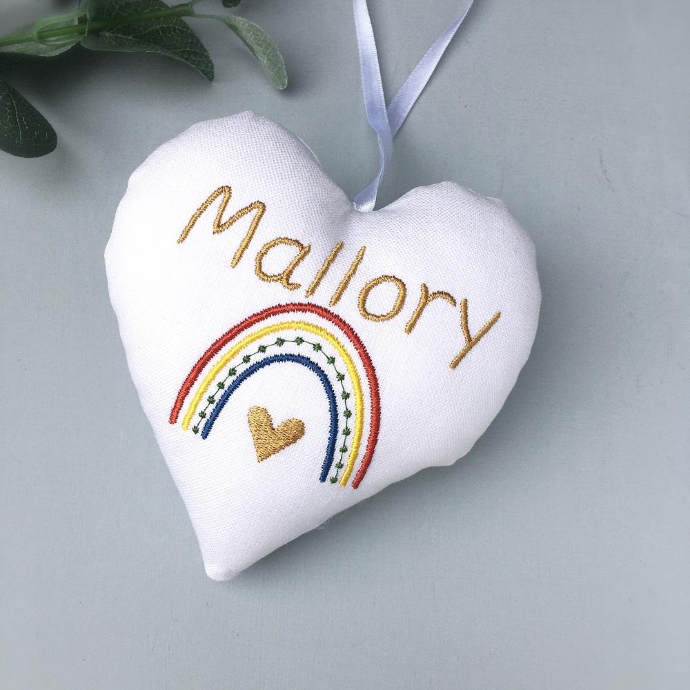 Personalised Boho Rainbow Heart