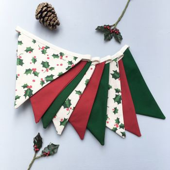 Christmas Holly Bunting
