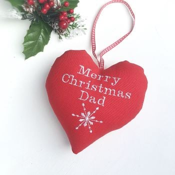 Personalised Red Christmas Heart
