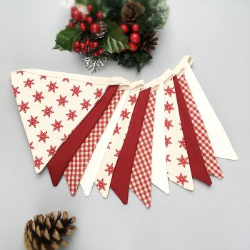 Scandi Style Red Christmas Bunting