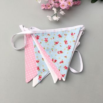 Blue & Pink Floral Bunting