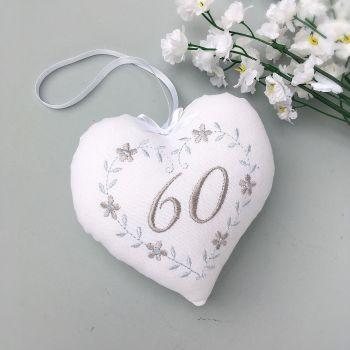 Diamond Wedding Anniversary Heart