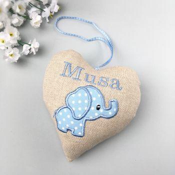 Blue Elephant Heart