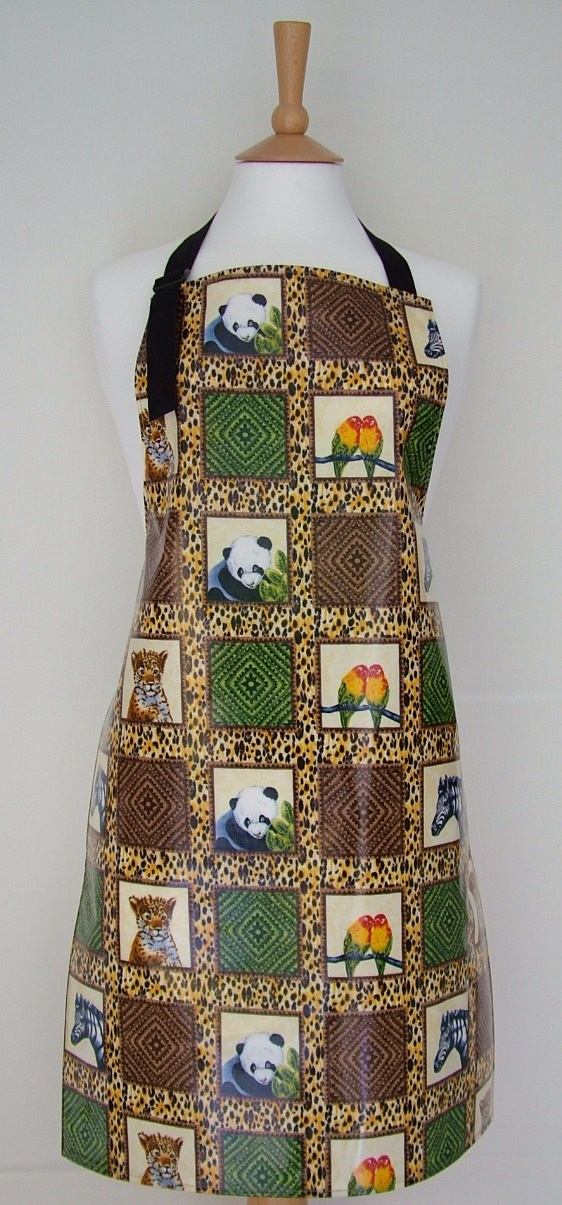 Jungle Life Adult Oilcloth Apron