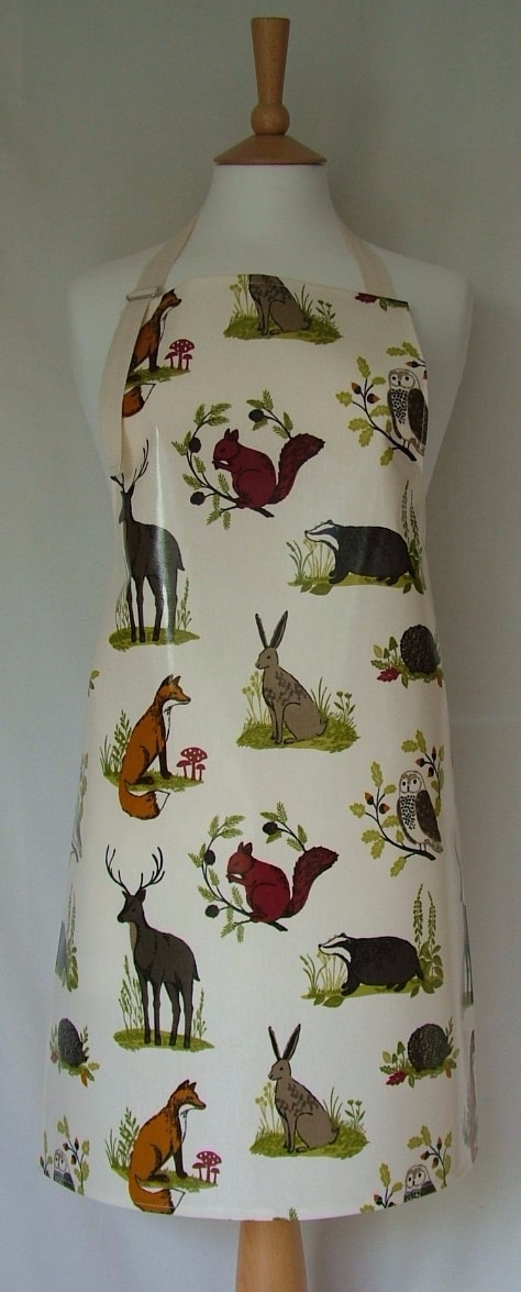Countryside Oilcloth Adult Apron