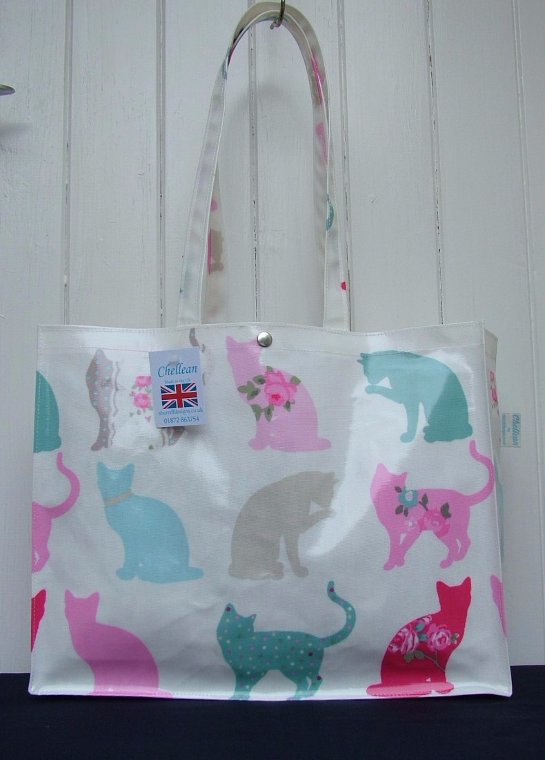 Felix Cat Long Handle Oilcloth Gusset Bag