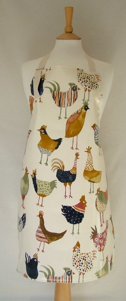 Hens Adult Oilcloth Apron