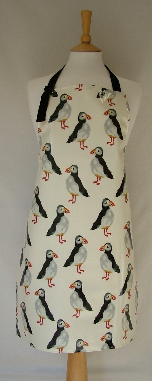 Puffins Adult Oilcloth Apron