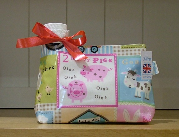 Fun Farm Oilcloth Wash Bag