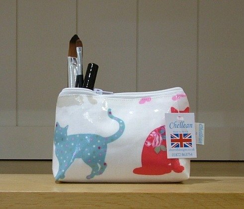 Felix Cat Oilcloth Make-up Purse