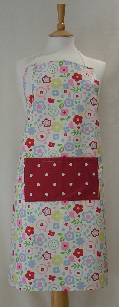 Floral Cotton Adult Apron