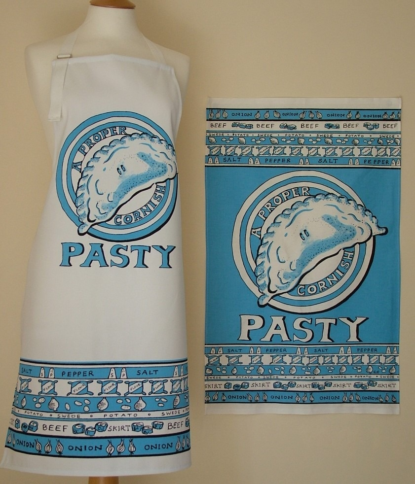 Proper Cornish Cotton Apron and Tea Towel