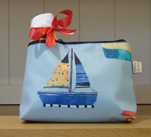 Boats Oilcloth Wash Bag