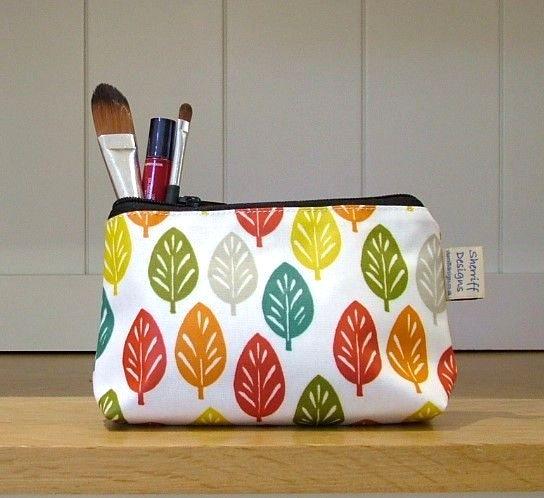 Spruce Oilcloth Make-up Purse