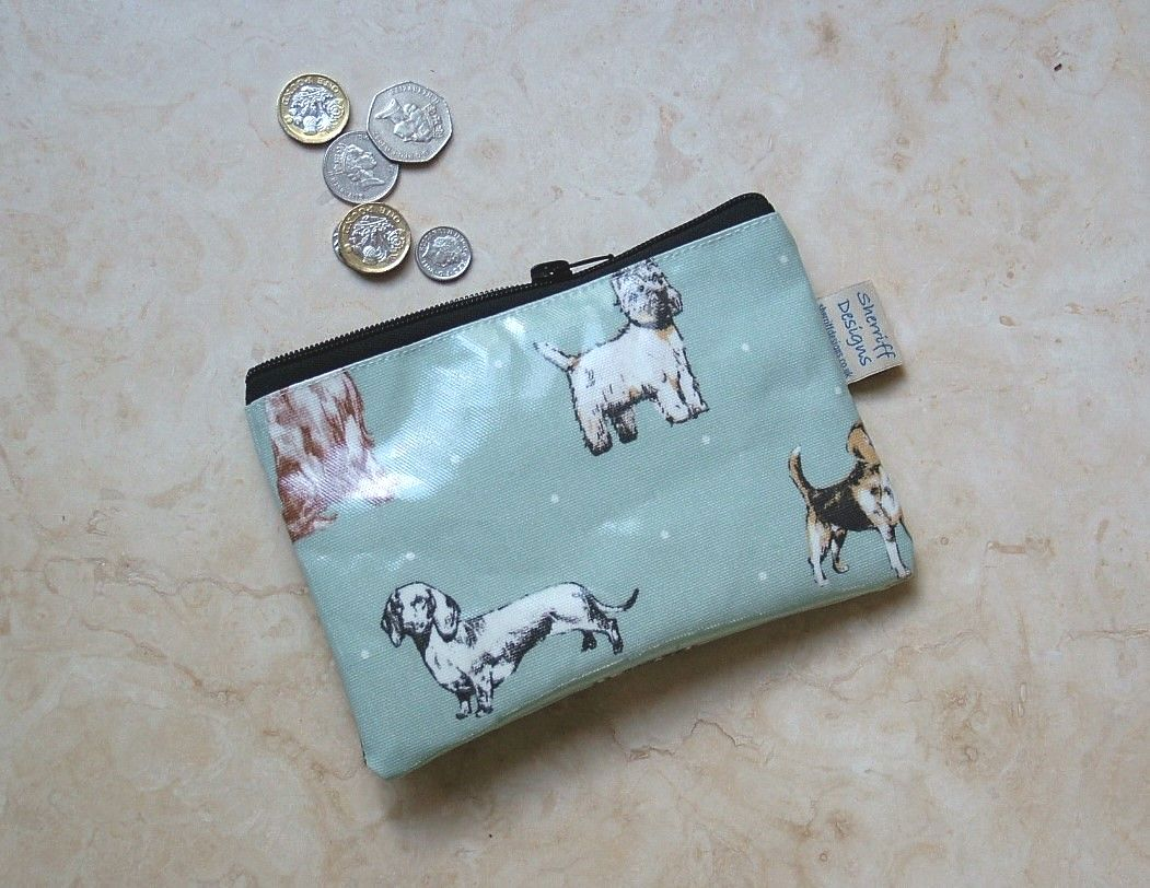Dogs Olicloth Purse