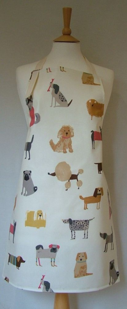 Dogs Adult Oilcloth Apron