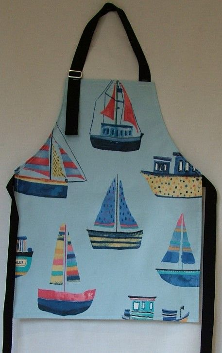 Boats Child Oilcloth Apron