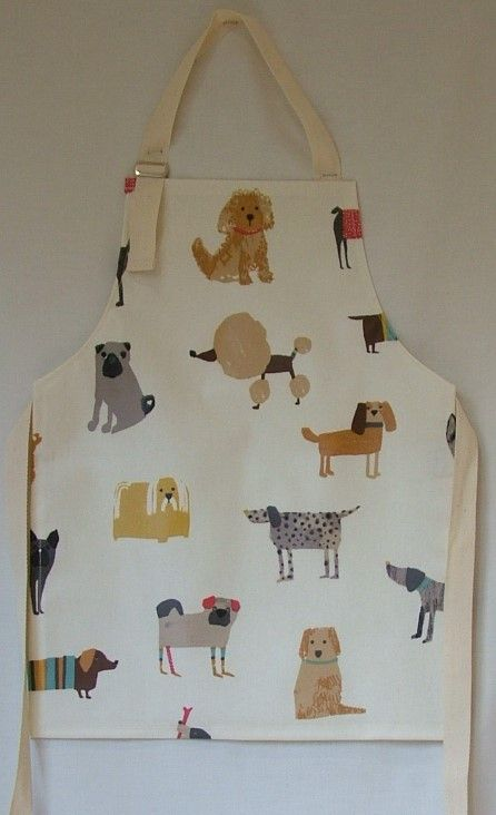 Dogs Child's Oilcloth Apron