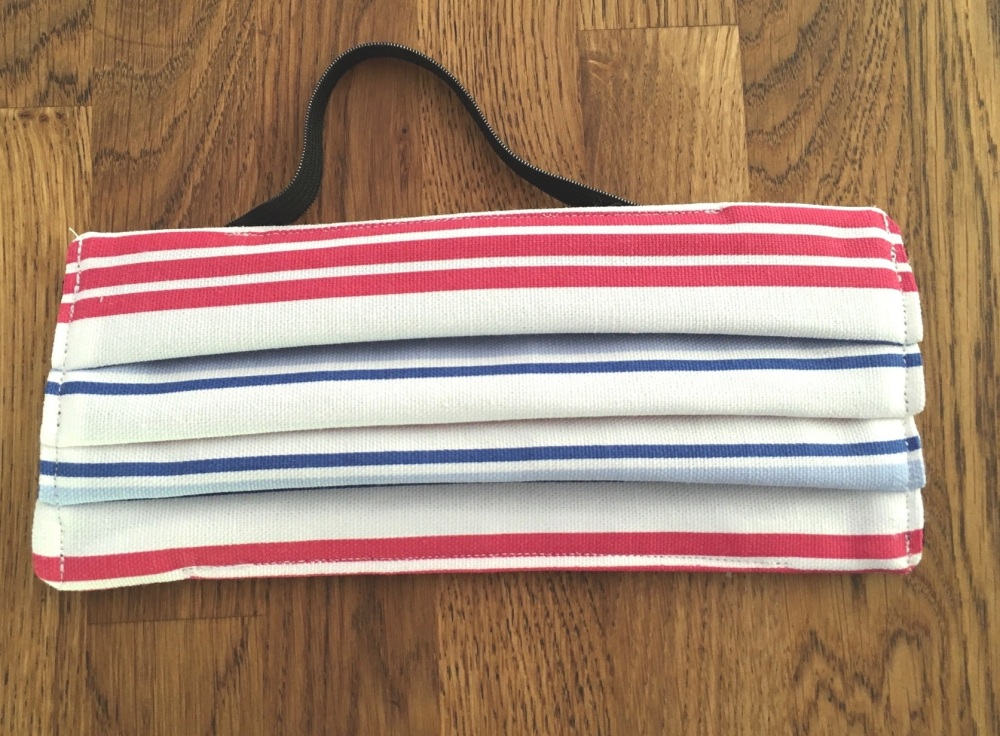 Face Mask - Red and Blue Stripe