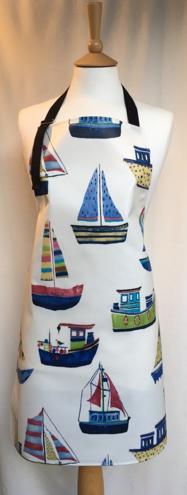 Boats Adult Oilcloth Apron