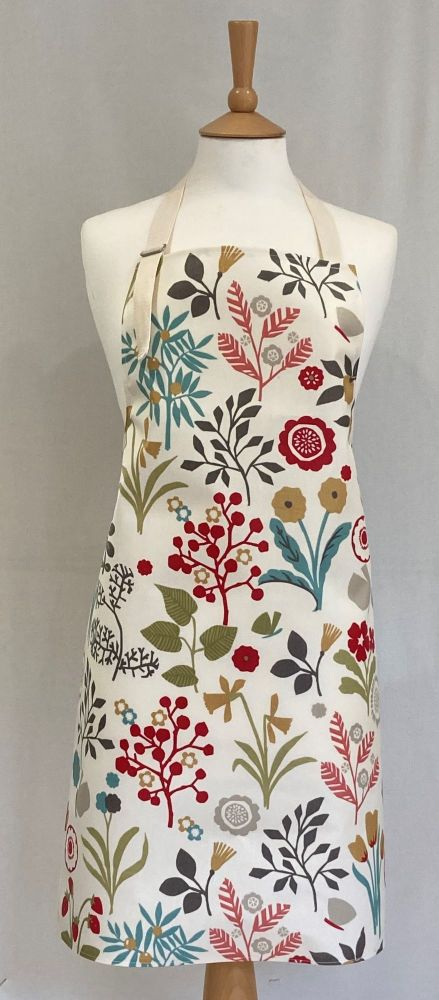 Floral Chic Oilcloth Adult Apron