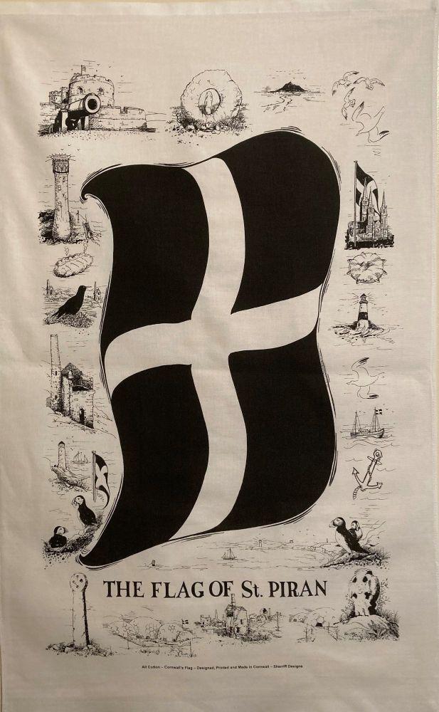 St. Piran Tea Towel