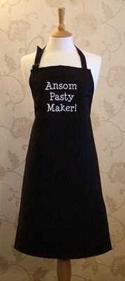 Ansome Pasty Maker! Adult Cotton Apron - Black