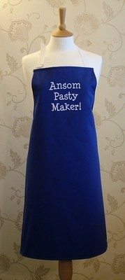 Ansome Pasty Maker! Adult Cotton Apron - Blue