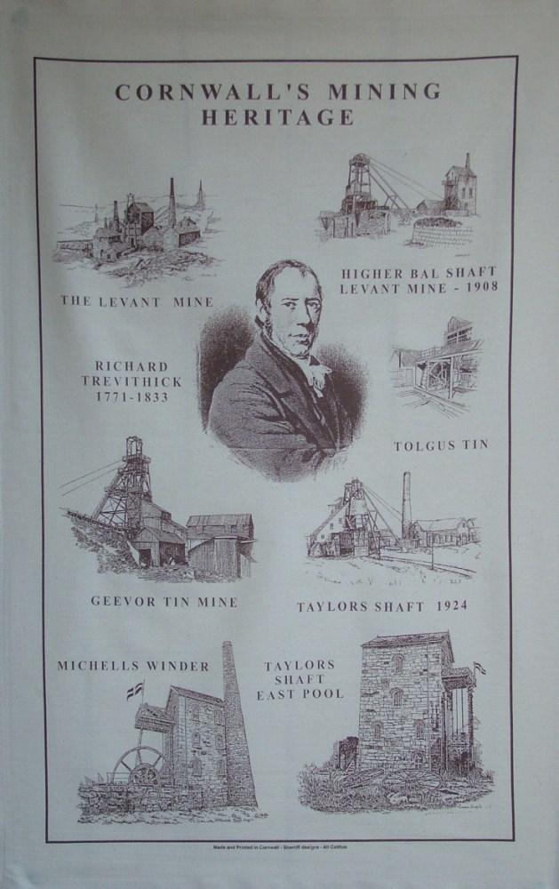 Cornwall Mining Tea Towel