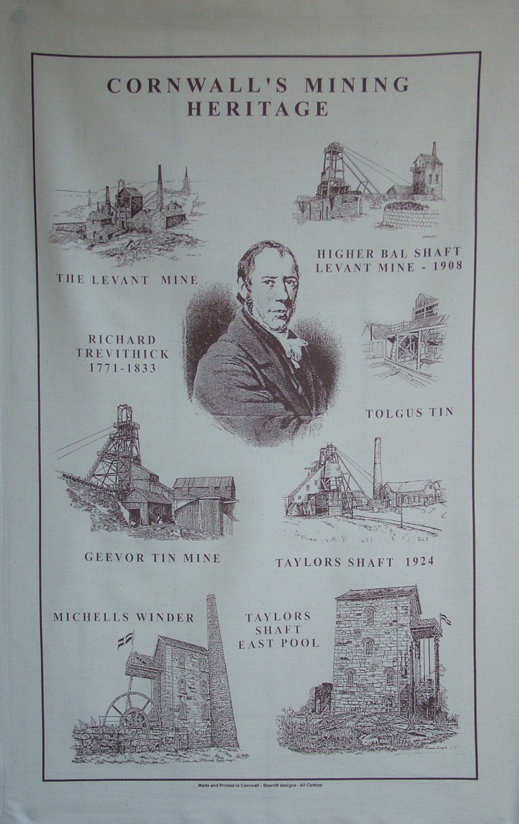 Cornwall Mining Tea Towel
