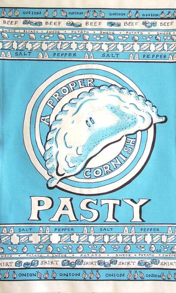 Pasty Tea Towel