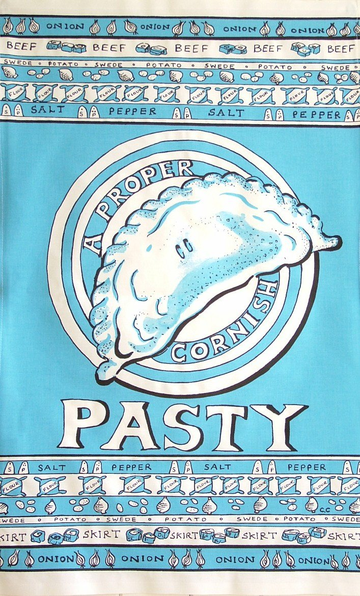 Pasty Tea Towel