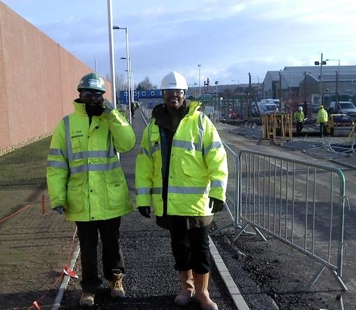 Security managers on site