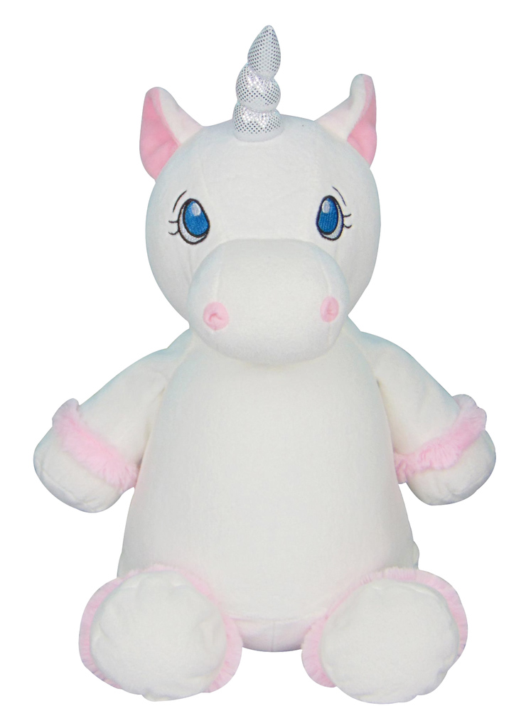 PERSONALISED WHITE UNICORN SOFT TOY