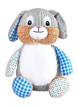 PERSONALISED RETRO BLUE BUNNY