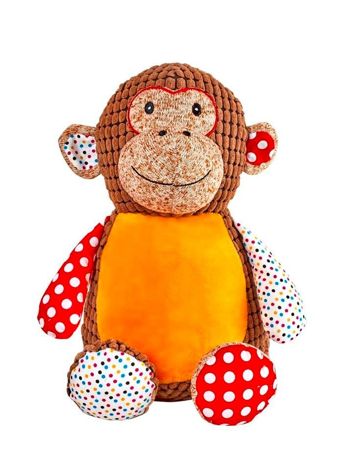 PERSONALISED RETRO BROWN MONKEY SOFT TOY