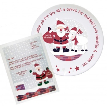 ROOFTOP SANTA MINCE PIE PLATE