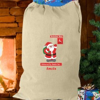 <!-- 00005 -->FATHER CHRISTMAS CREAM COTTON SACK