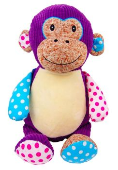 PERSONALISED RETRO PURPLE MONKEY - BACK 2018
