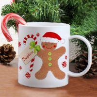 FELT STITCH GINGERBREAD PLASTIC CUP