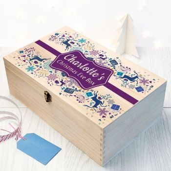 PERSONALISED TRADITIONAL CHRISTMAS EVE BOX - AVAILABLE IN OTHER COLOURS & SIZES