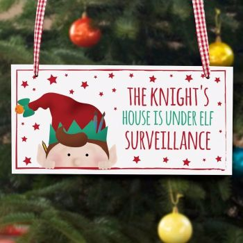 CHRISTMAS ELF WOODEN SIGN