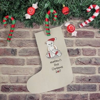 BEAR MY FIRST CHRISTMAS STOCKING