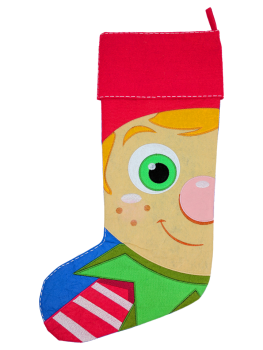 GREEN CHRISTMAS ELF STOCKING - PRE ORDER NOW FOR DECEMBER DISPATCH