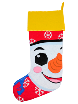 SNOWMAN WITH BLACK HAT STOCKING - PRE ORDER NOW FOR DECEMBER DISPATCH