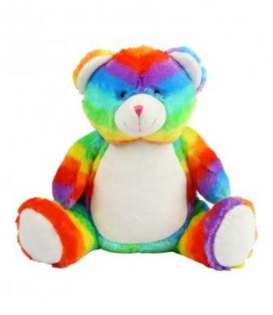 MUMBLES PERSONALISED RAINBOW BEAR