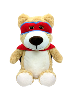 PERSONALISED RED HERO BEAR
